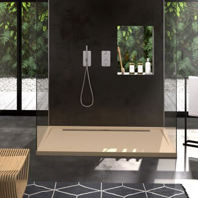 Doccia Canto Lateral Natural Stone Effect Shower Tray  - 1200x800mm